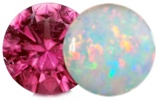 October Gemstones are Opal and Tourmaline