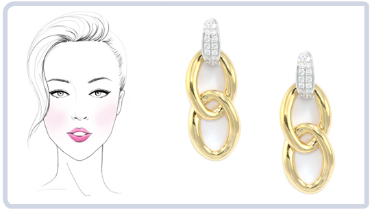 Line Drawing Face Earrings : Choosing earrings which are best for you wixon jewelers