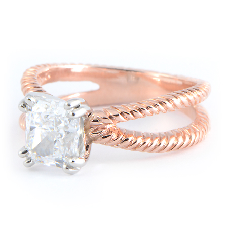 Braided Rope Engagement Ring