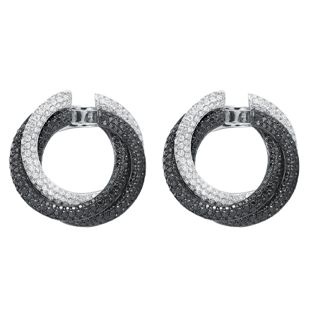 White Black Diamond Earrings