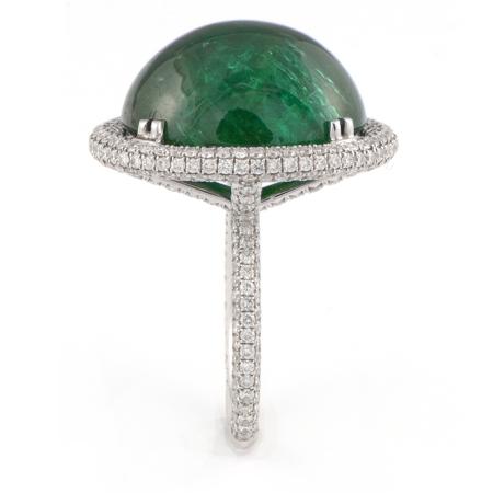 Jewel Tone Emerald Cabochon Gemstone Ring Wixon Jewelers
