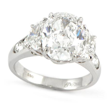 JB Star Oval Engagement Ring Minneapolis MN Wixon Jewelers