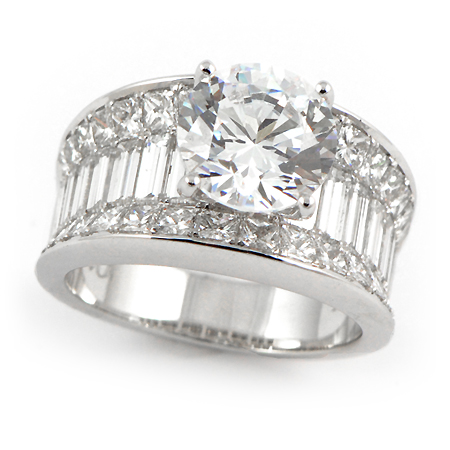 Wide Band Diamond Engagement Rings Marquise Diamond Engagement
