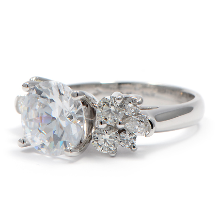 Diamond Ring W Flower Petal Design Wixon Jewelers