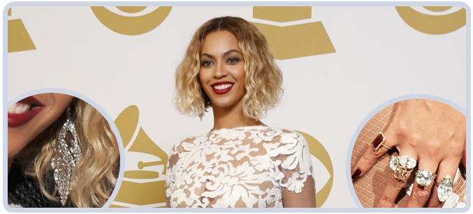 Beyonce 10 million in Jewelry at 2014 Grammys