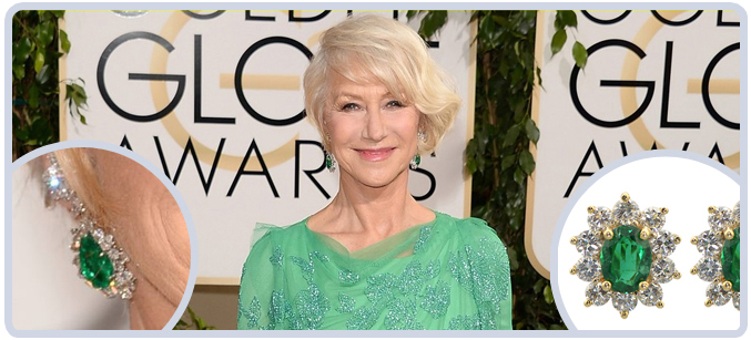 Helen Mirren Earrings from the 71st Golden Globes Awards