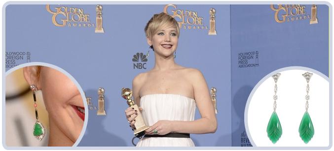 Jennifer Lawrence Earrings at the 71st Golden Globes Awards