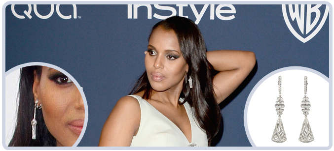 Kerry Washington at the 71st Golden Globes Awards