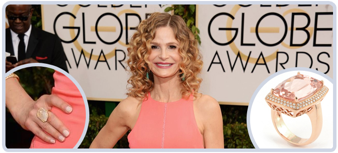 Kyra Sedgwick at the 71st Golden Globes Awards