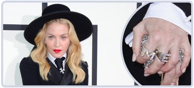 Madonna's Jewelry at 2014 Grammy Awards