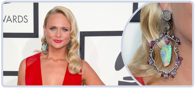 Miranda Lambert Opal Earrings at Grammy Awards 2014