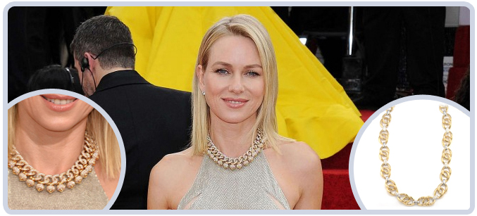 Naomi Watts Necklace at the 71st Golden Globes Awards
