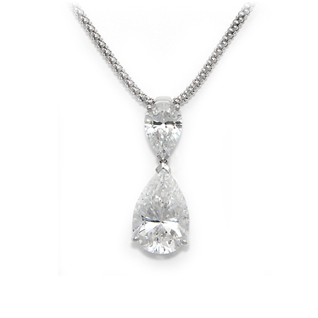 white karat necklaces carat set diamond in goldinart shaped gold pendant com shop pear