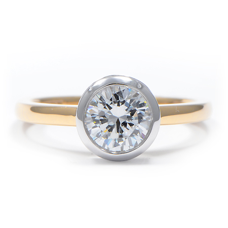 Two Tone Solitaire Engagement Ring Wixon Jewelers