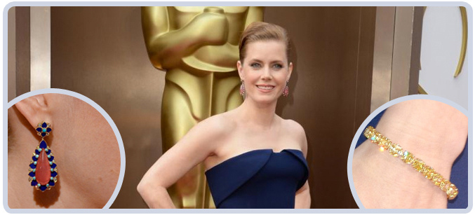 Amy Adams Jewelry at 2014 Academy Awards