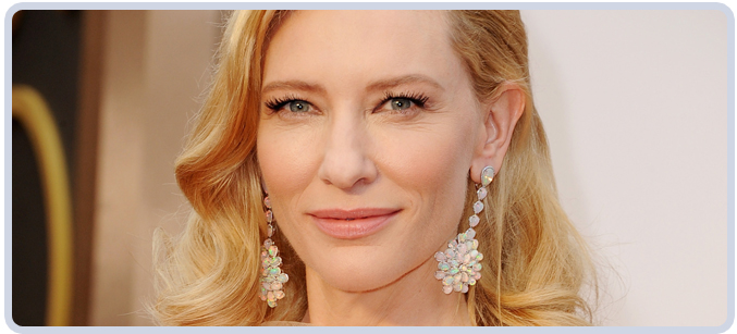 Cate Blanchette's Opal Earrings at 2014 Academy Awards