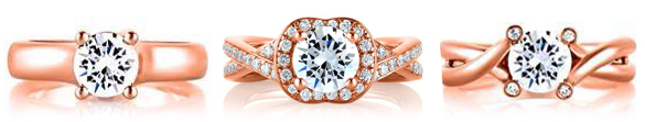 Rose Gold Engagement Rings by A. Jaffe