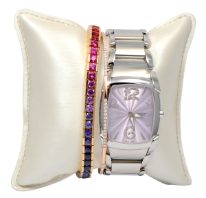Parmigiani Fleurier Ladies Watch with Stacked Bracelets