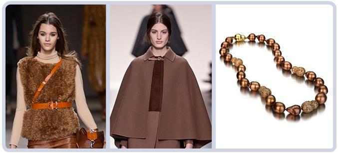 Brown Runway Fashion Jewelry Tahitian Pearls