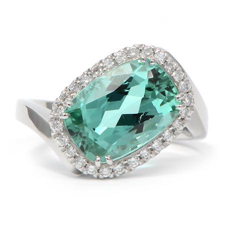 Custom Mint Tourmaline Gemstone Ring Wixon Jewelers