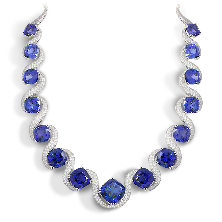 Custom Tanzanite Amp Diamond Collar Necklace Wixon Jewelers