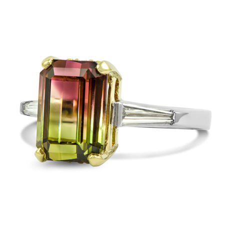 Custom Watermelon Tourmaline Ring Wixon Jewelers