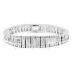 baguette and round cut diamond bracelet