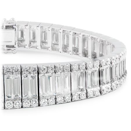 bracelet full diamond gold bracelets baguette white