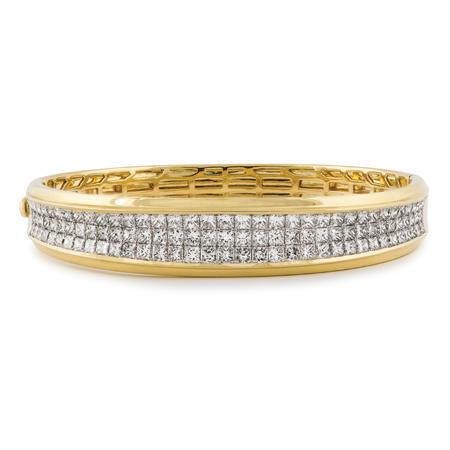 3 Row Princess Cut Diamond Bracelet