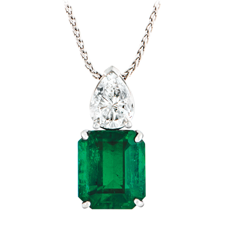diamond gold aaa at natural emerald pm necklace screen pendant colombian cluster shot products