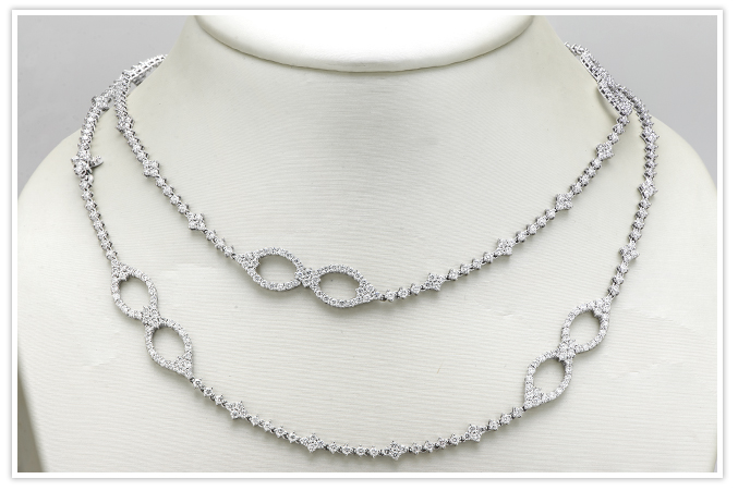 Diamond Necklace and Bracelet