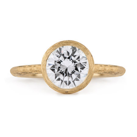 Florentine Finish Bezel Solitaire Wixon Jewelers