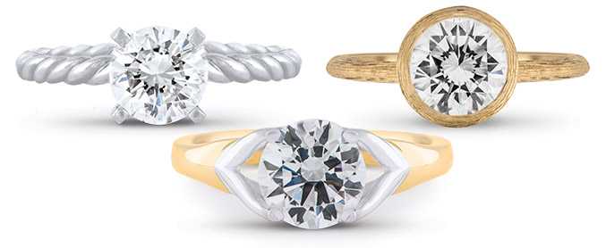 Solitaire Diamond Rings Wixon Jewelers