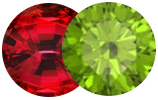 August's Birthstones are Peridot and Spinel