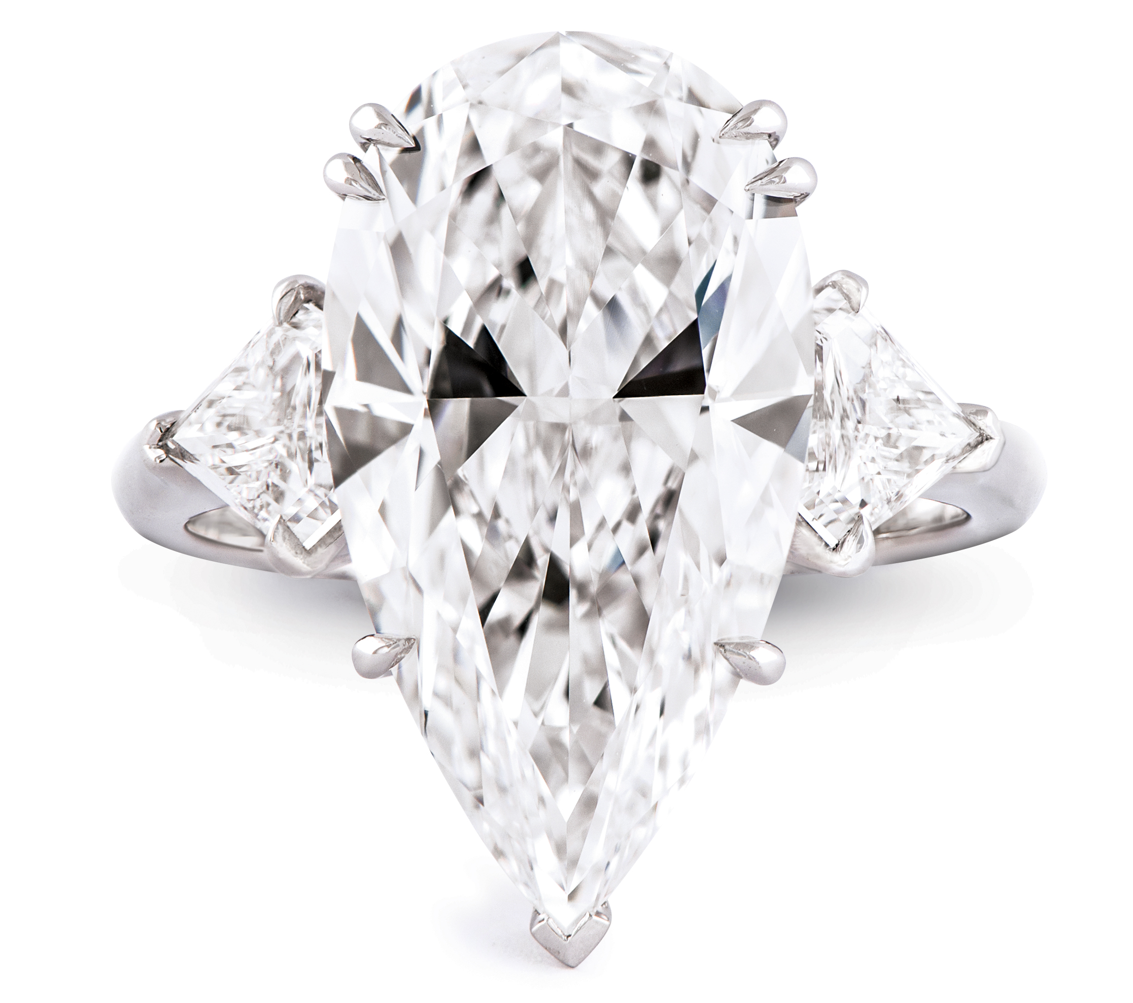 pin french wedding cut diamond a cushion august vintage style rings cvb platinum solitaire center with three natural in giselle sides stone