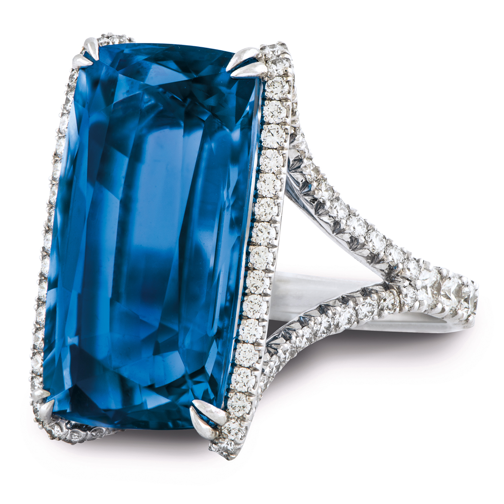 While the more unusual cuts of diamonds have been gathering momentum - Conveying Even More Energy Is Lapis Blue Strong And Confident This Intense Blue Shade Is Imbued With An Inner Radiance
