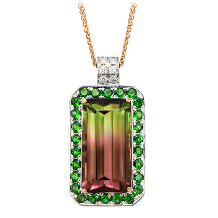 Multi Color Watermelon Tourmaline Pendant Wixon Jewelers