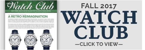 Watch Club Newsletter: Fall 2017