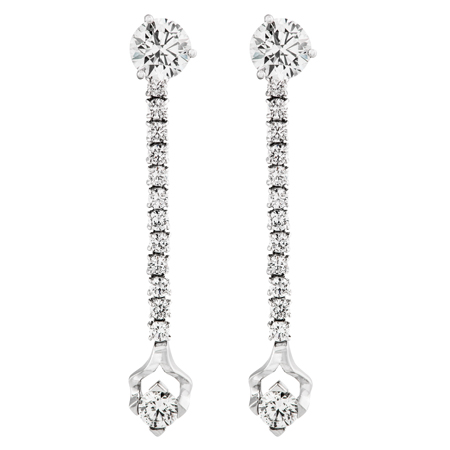Diamond Stud Dangle Earring Jackets