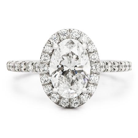oval diamond halo platinum engagement ring