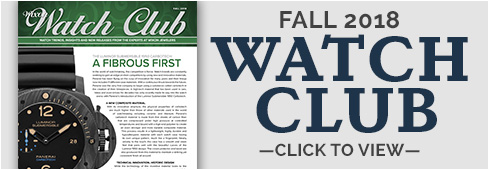 Watch Club Newsletter: Fall 2018