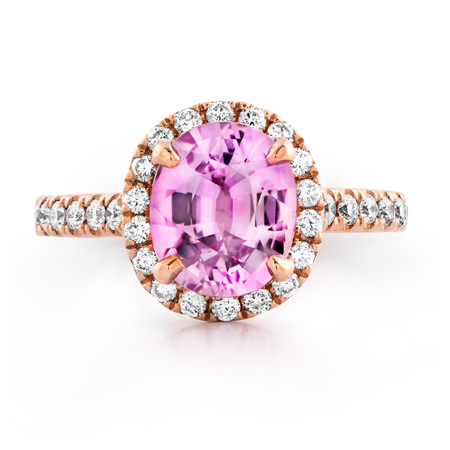 spinel gemstone pink ring