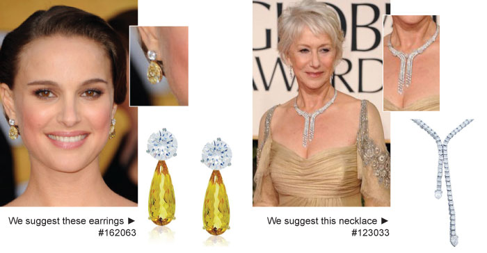 Natalie Portman Yellow Diamond Earrings