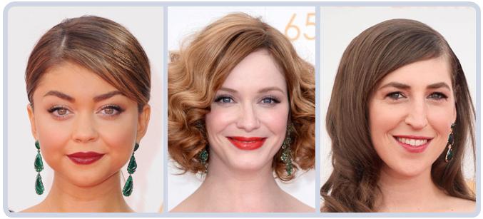 Sarah Hyland, Christina Hendrick and Mayim Bialik Earrings at 65th Emmy Awards