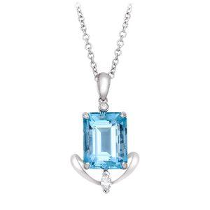 Aquamarine Gemstone Pendant