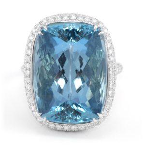 Aquamarine Gemstone Ring from Brazil