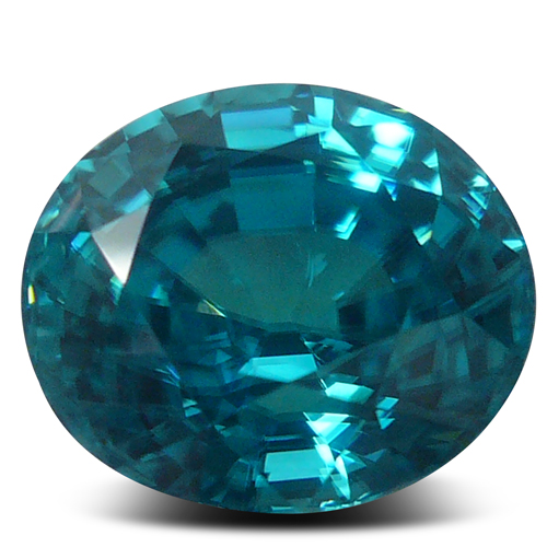 Loose Oval Blue Zircon Gemstone