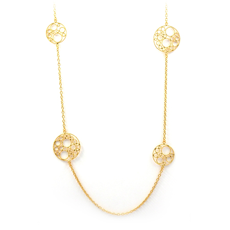 Yellow Gold Bollicine Necklace