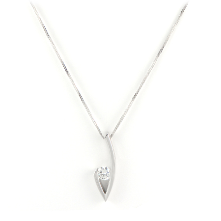Contemporary Diamond Pendant