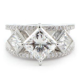 Custom Princess Cut Engagement Ring